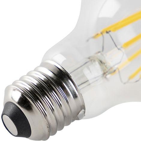 LUEDD Set 5 bombillas LED E27 regulables transparente 7W 800lm 2700K