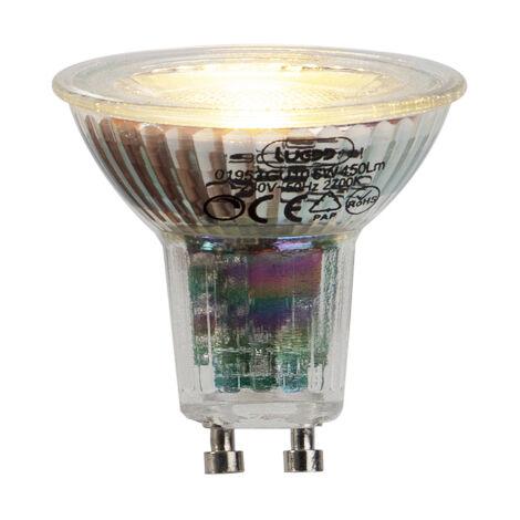 LUEDD Set 5 bombillas LED GU10 6W 450lm 2700K regulable
