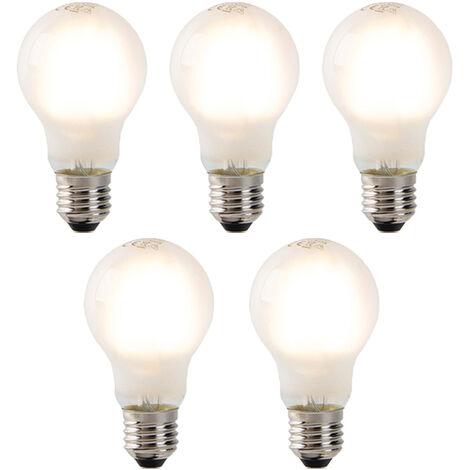 LUEDD Set 5 bombillas LED regulables E27 esmerilado 320lm 2700K