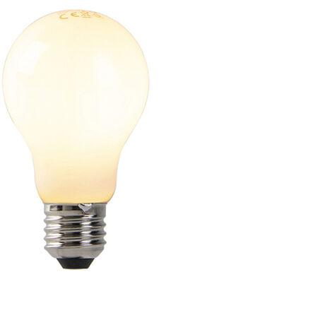 LUEDD Set 5 bombillas translúcidas LED E27 regulables 7W 680 lm 2200K