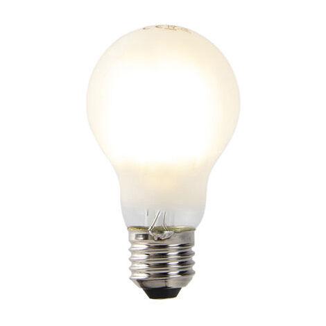 LUEDD Set 5 bombillas translúcidas LED regulables E27 A60 2700K