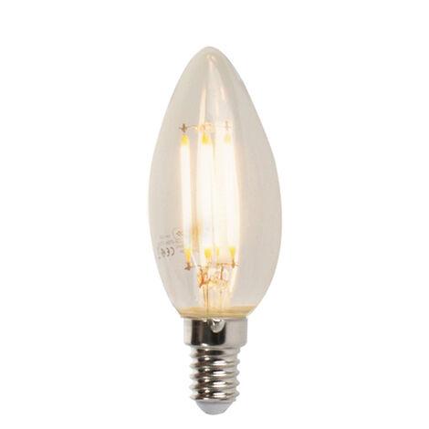 LUEDD Set 5 bombillas vela filamento LED regulables E14 5W 470lm 2700K