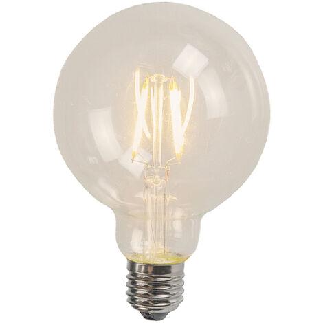 LUEDD Set de 3 bombillas de filamentos LED E27 G125 4W 470lm 2700K
