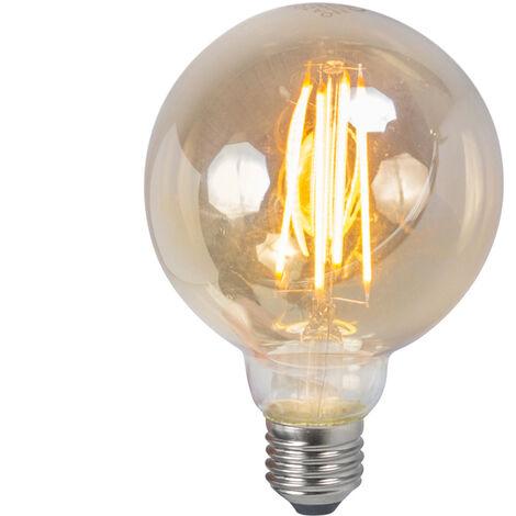 LUEDD Set de 3 bombillas LED E27 5W 2200K ahumado regulable
