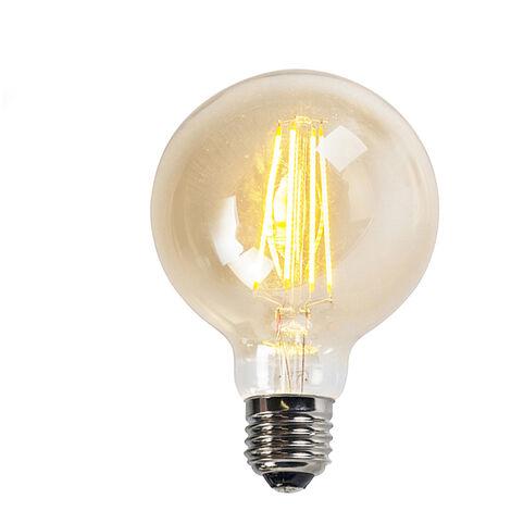 LUEDD Set de 3 bombillas LED E27 5W 450LM 2200K regulable globo dorada