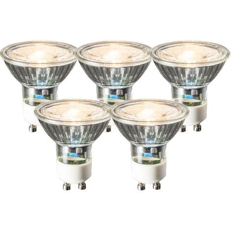 LUEDD Set de 5 bombillas LED GU10 COB 3W 230lm 2700K