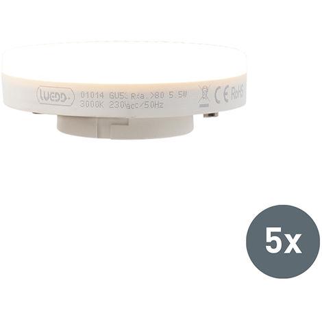 LUEDD Set de 5 bombillas LED GX53 5.5W 470 lumen 3000K