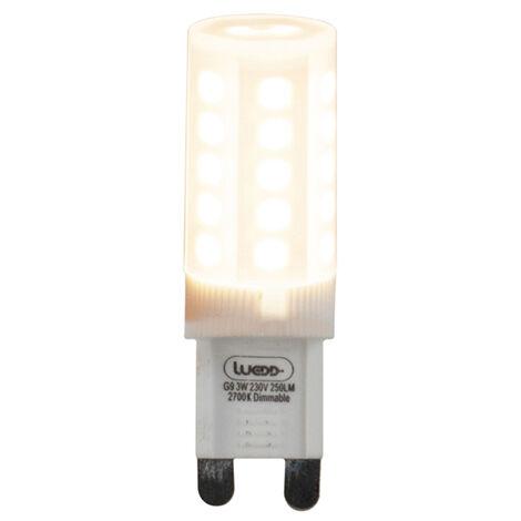 LUEDD Set de 5 bombillas LED regulables G9 3W 280lm 2700K