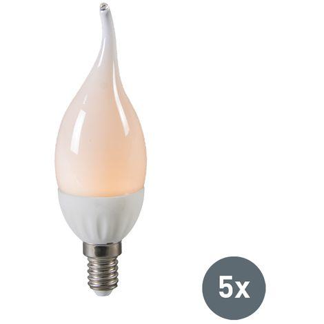 LUEDD Set de 5 bombillas vela LED E14 3W 250 lúmenes (=25W)