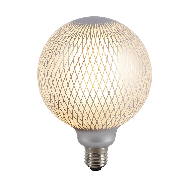 LUEDD Set 3 lampadine LED E27 320lm 2700K globo DECO dimm