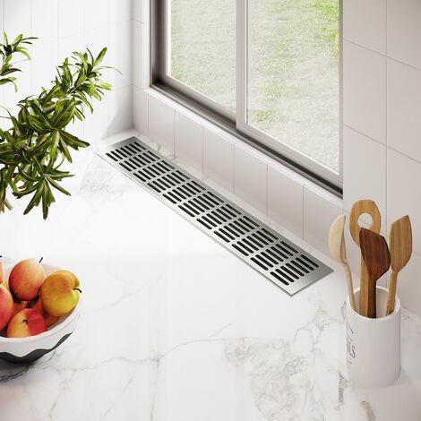 Aluminium Lüftungsgitter Stegblech Länge 2000 mm Breite 60 mm Edelstahl elox.