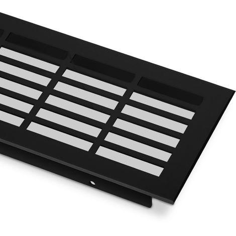 Lüftungsgitter Lochung eckig / schwarz eloxiert L: 900 mm schwarz eloxiert