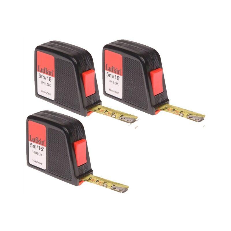 Image of Lufkin Crescent YU835CME Unilok Tape 5m / 16ft - Abrasion Resistant Blade x3 - CRESCENT LUFKIN
