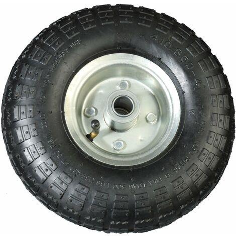Luftrad 260mm schwarz Ersatz-Reifen für Schubkarre Sackkarre Reifen Rad 4.10-4 auf Stahlfelge