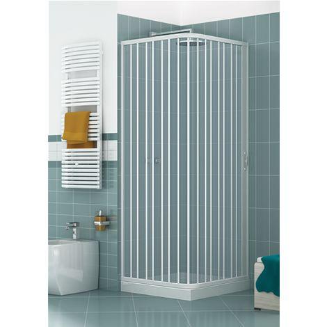 LUGABIAL070080 Box doccia a due lati, dim. 70*80 cm x H 185 cm, in PVC, anta unica con apertura laterale.