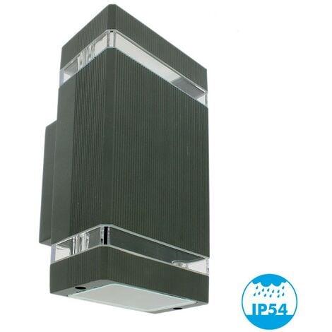 LUIS Aplique de exterior Antracita Doble haz GU10 IP54