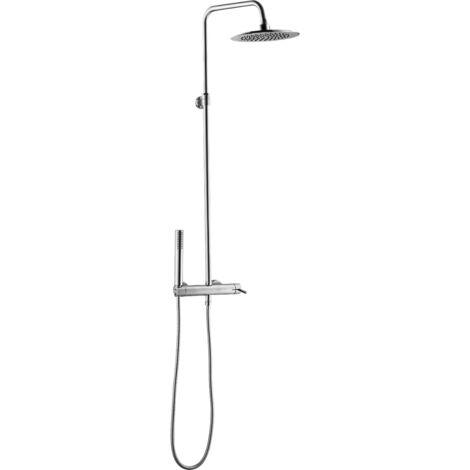 Luisa colonne de douche chromée avec mitigeur mécanique