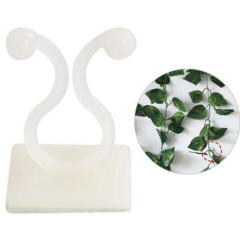 Lulu mur d'escalade fixateur mur d'escalade plante vigne crochet auto-adhesif fixe artefact sans couture interieure de l'armoire a ongles, blanc, S