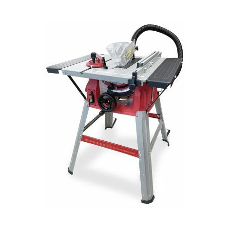 """Lumberjack 1500W Bench Table Saw with Sliding Side Extension & 210mm 8"""" Blade 240V"""