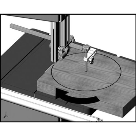 Lumberjack BSC305 Circle Cutting Jig Accessory For Bandsaw