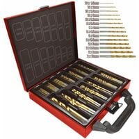 Lumberjack DBS99 High Quality 99 Piece Titanium Coatedd HSS Drill Bits Set