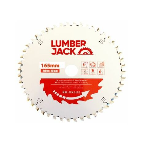 Lumberjack PPSB16560 TCT 165mm Industrial Pro Circular Saw Blade 60T For Bosch/ Makita/ Milwaukee and Hitachi