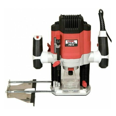 "Lumberjack PR14 1/4"" Plunge Router With Variable Speed & Fine Height Adjustment"