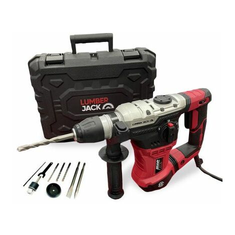 Lumberjack Rotary Hammer Drill With SDS Chisel Bits