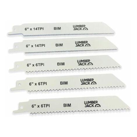 Lumberjack RSSB150 Pack Of 5 Recip Saw Blades