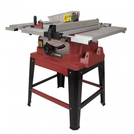 Lumberjack TS254SE 254mm table saw with side and rear extensions