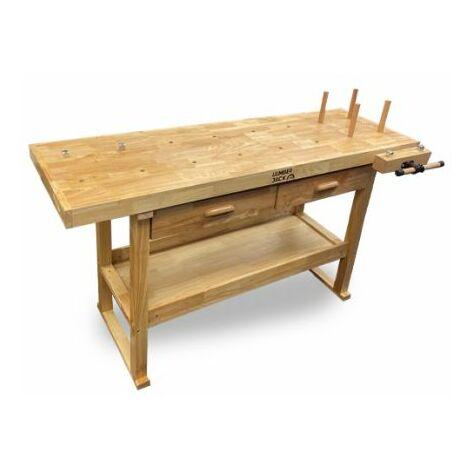 Lumberjack Woodworking Work Bench 1630mm x 500mm x2 Drawer