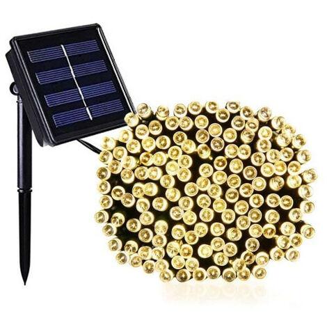LUMI JARDIN Guirlande lumineuse solaire Yogy Solar - Lumiere blanc chaud solaire - 200 LED - 1700 cm