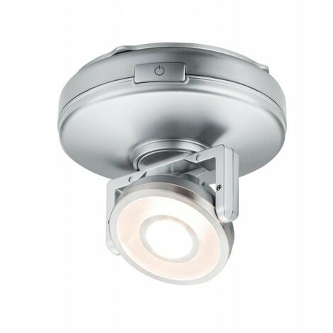 Lumière d'ameublement Rotate Led avec interrupteur on/off - Chrome mat - Piles - 3000K - Dimmable