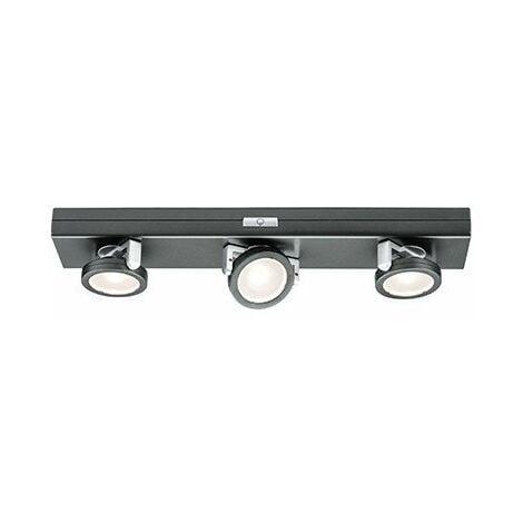 Lumière d'ameublement Rotate Spot Led avec interrupteur - Anthracite/Chrome - Piles - 3000K - Dimmable