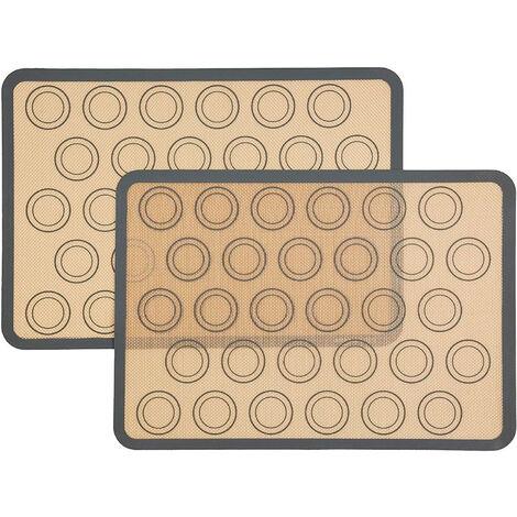 Lumière de gouttière solaire / lot de 3 / noir / sans fil / matériel de fixation inclus Tapis de cuisson pour macarons en silicone, 2 pièces