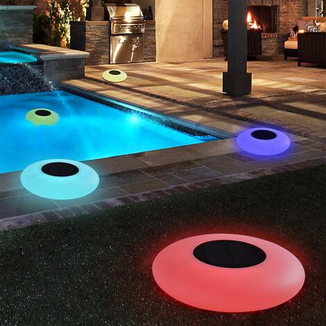 Lumière de piscine flottante , mise à niveau des boules de piscine LED à changement de couleur RVB, jouets de bain lumineux étanches, veilleuse à batterie pour enfants, parfait pour la piscine, étang, décor de Noël de jardin