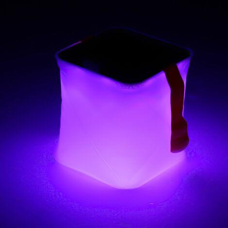 Lumiere gonflable coloree USB solaire Veilleuse etanche interieure et exterieure Lampe de camping Trois modes d'eclairage