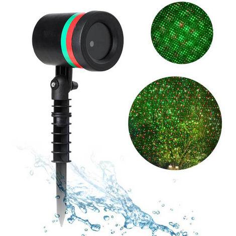 Lumiere laser impermeable de pelouse exterieure, lanterne, lumiere de scene etoilee de cour inseree au sol, norme europeenne 220 V