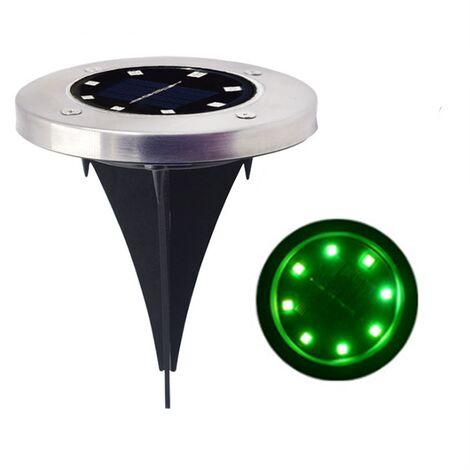 Lumière solaire extérieure, 8 LED 1 packs concentrant la lumière solaire de jardin étanche IP65 lampe de pelouse décoration chemin jardin terrasse cour pelouse chaude 1pcs - lumière verte