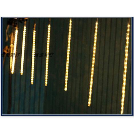Lumières de Douche Meteor Lumières de Fée LED 8 Tubes 30 cm Lumières de Pluie Météore pour la Décoration de Noël Jardin Extérieur et Fête Etanche IP65 (Blanc)