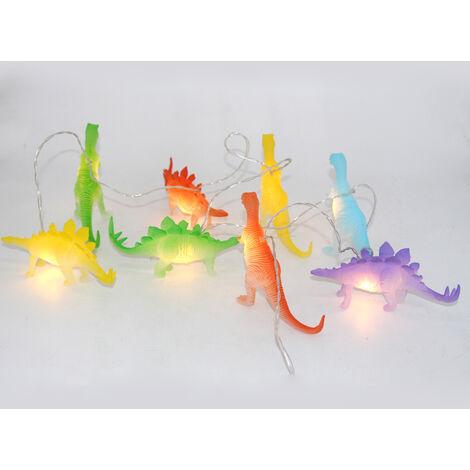 Lumières de ficelle avec Lumineux Dinosaures Réalistes Dinosaures Lumière 8led Enfants Cadeau Jouet En Plastique Super Fun Dino Li