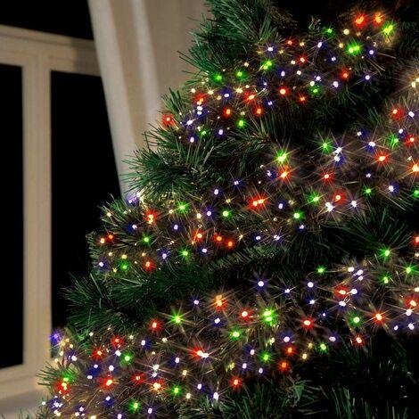 Lumières de noël d'extérieur led solaire batterie longue durée, panneau de 100 leds arbre sapin de noel balcon