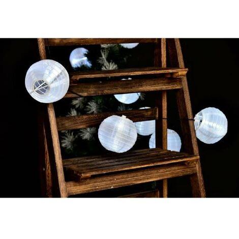 LUMIJARDIN Lanternes guirlande lumineuse solaire 10 lampions a LED - Résistant a l'eau Lumi Jardin
