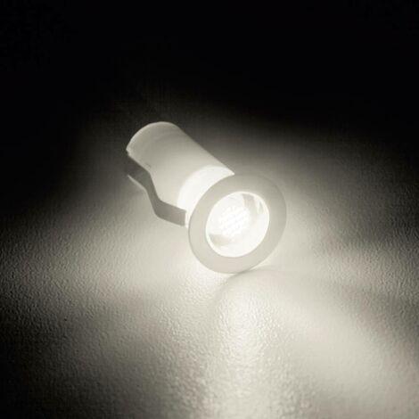 Luminaire à LED encastrable LED intégrée Brilliant Cosa 15 G03090/75 blanc chaud 1.5 W acier inoxydable jeu de 10