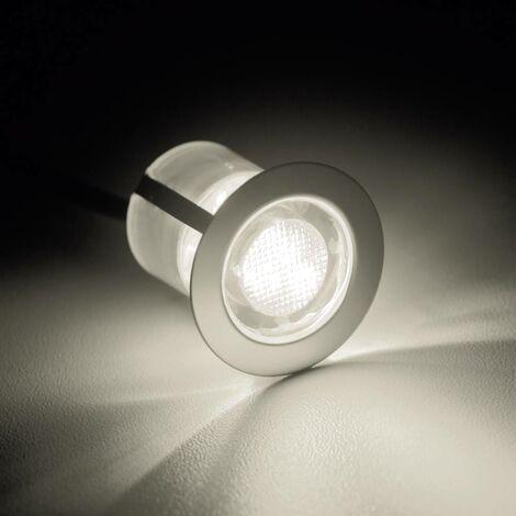 Luminaire à LED encastrable LED intégrée Brilliant Cosa 30 G03093/75 blanc chaud 4.5 W acier inoxydable jeu de 10
