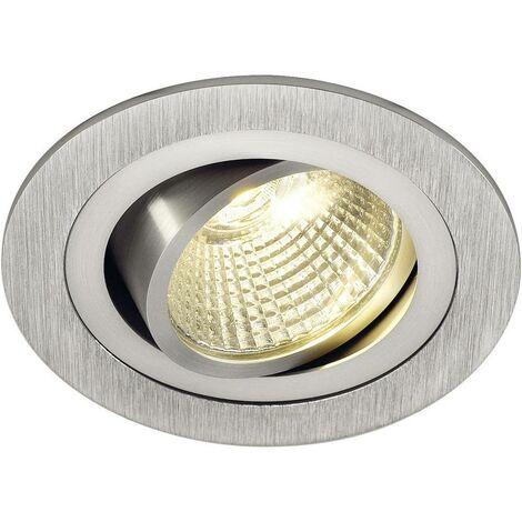 Luminaire à LED encastrable LED intégrée New Tria 113906 blanc chaud 6.6 W aluminium (brossé)