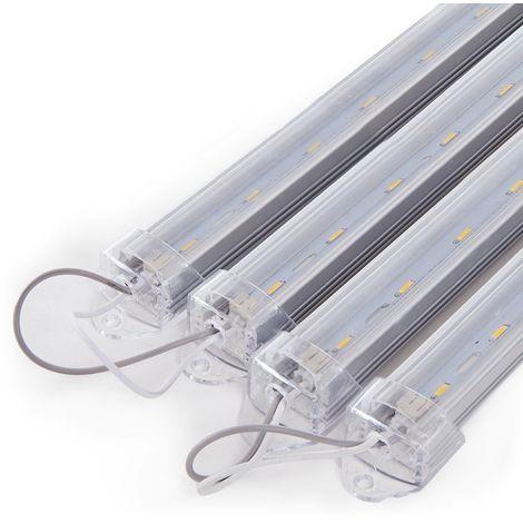 Luminaire Aluminium Eco 1 X LED Tube T8 60Cm | Blanc chaud (KD-147-4X1_5W-ARM-WW)