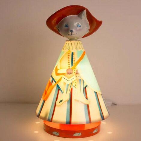 Luminaire chambre garçon le Chat Botté - Bleu