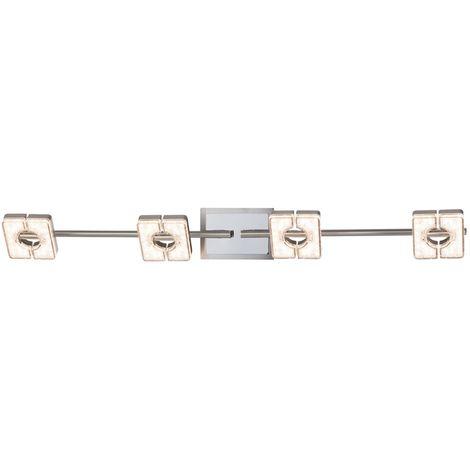 Luminaire de chambre à coucher à look de cristal réglable avec barre de lumière à LED Design Esto 762029-3