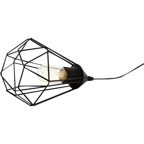 Luminaire de table en métal filaire Tarbes Eglo - E27 - Diamètre 17,5 cm - Noir